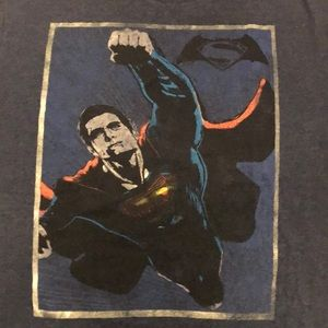 ***SOLD***Retro Superman T-Shirt Blue Size Large